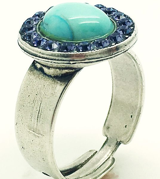 Crystal Turquoise&Blue ring